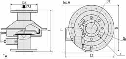 КЗМЭФ 1-А-65(80, 100)-1-220 клапан газовый электромагнитный